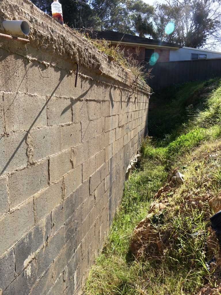 building defect wall